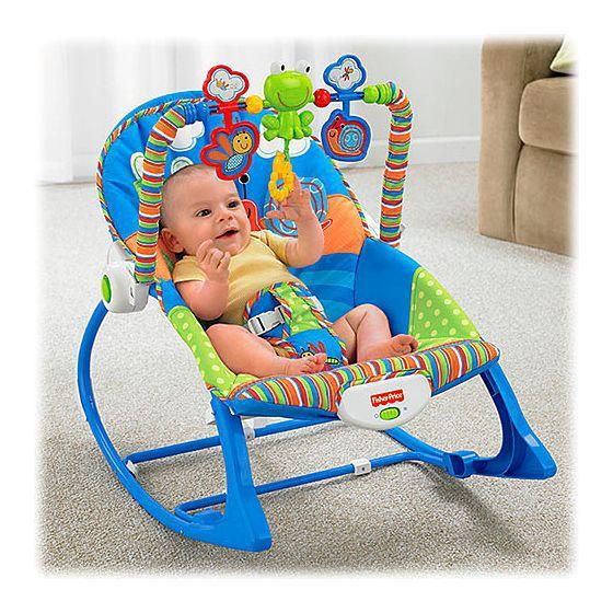 Cadeira de balanço minha infância sapinho - Fisher Price