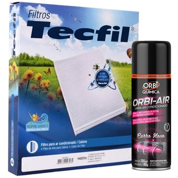 Kit Filtro Ar Condicionado + Orbi Air Fiat Palio Siena Idea