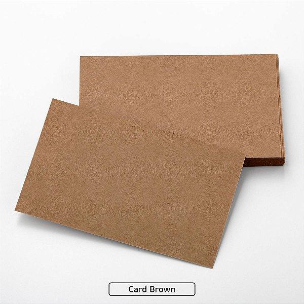 Lote A4-171 - Card Plus Brown - 200g - 25fls