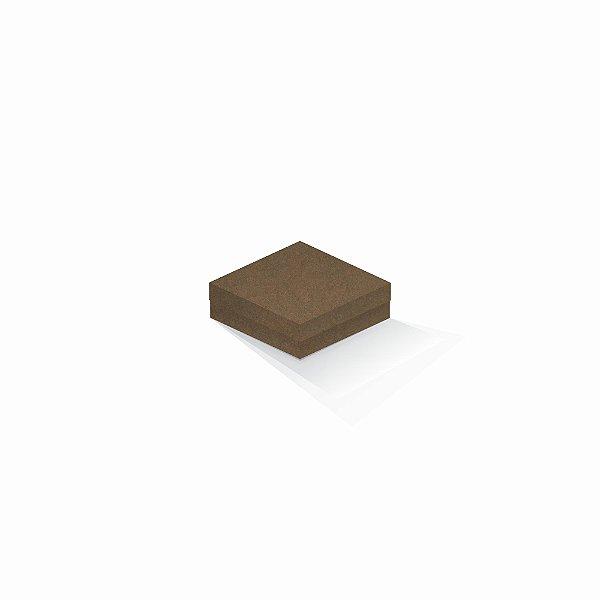 Caixa de presente | Quadrada F Card Scuro Marrom 10,5x10,5x4,0