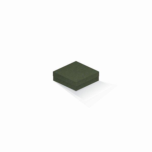 Caixa de presente   Quadrada F Card Scuro Verde 10,5x10,5x4,0