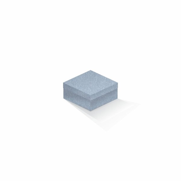 Caixa de presente | Quadrada Color Plus Metálico Mar Del Plata 10,5x10,5x6,0