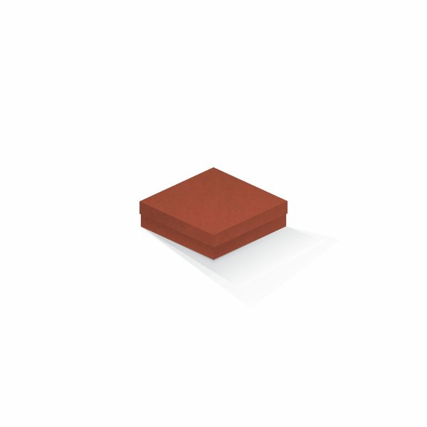 Caixa de presente | Quadrada F Card Scuro Laranja 12,0x12,0x4,0