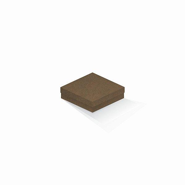 Caixa de presente | Quadrada F Card Scuro Marrom 12,0x12,0x4,0