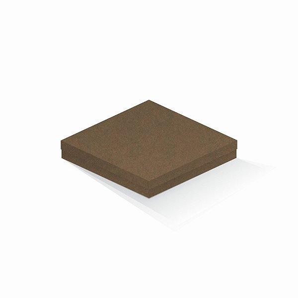 Caixa de presente | Quadrada F Card Scuro Marrom 20,5x20,5x4,0