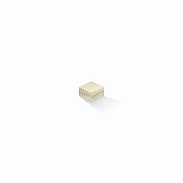 Caixa de presente | Quadrada Color Plus Marfim 5,0x5,0x3,5