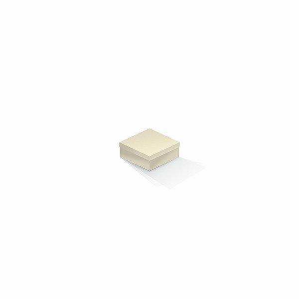 Caixa de presente | Quadrada Color Plus Marfim 7,0x7,0x3,5