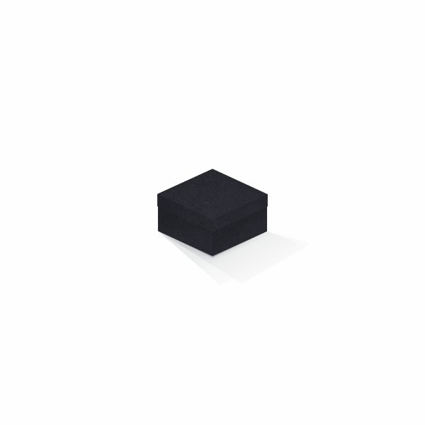 Caixa de presente | Quadrada F Card Scuro Preto 9,0x9,0x6,0