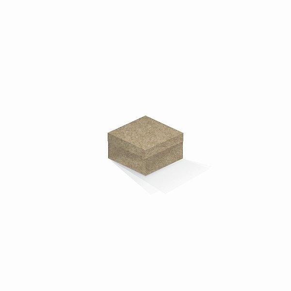 Caixa de presente | Quadrada Kraft 9,0x9,0x6,0
