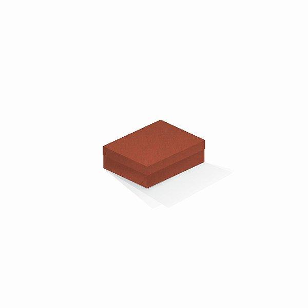Caixa de presente | Retângulo F Card Scuro Laranja 10,0x13,0x3,5