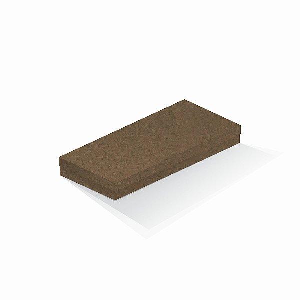 Caixa de presente   Retângulo F Card Scuro Marrom 13,0x29,0x4,0