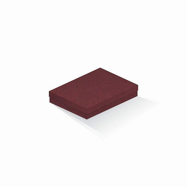 Caixa de presente | Retângulo F Card Scuro Vermelho 14,0x19,0x4,0