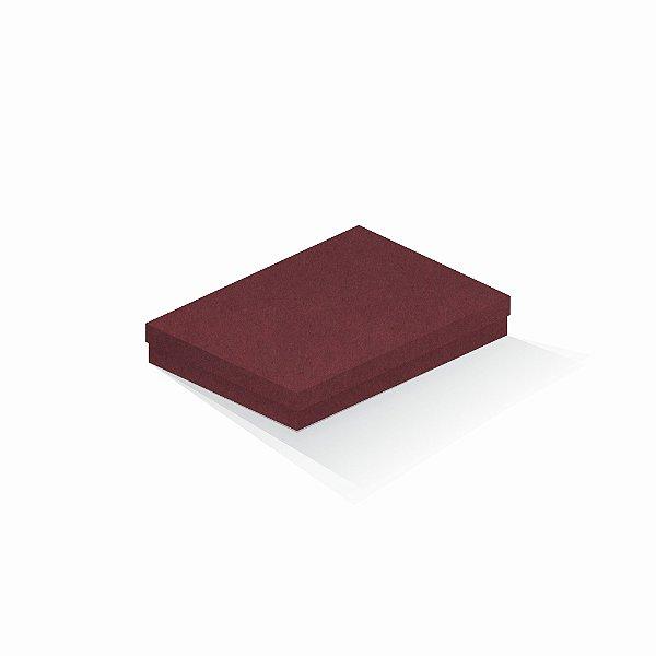 Caixa de presente | Retângulo F Card Scuro Vermelho 16,0x22,5x4,0