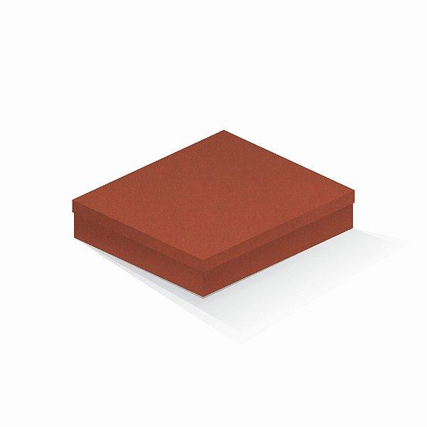 Caixa de presente   Retângulo F Card Scuro Laranja 21,7x27,7x5,0