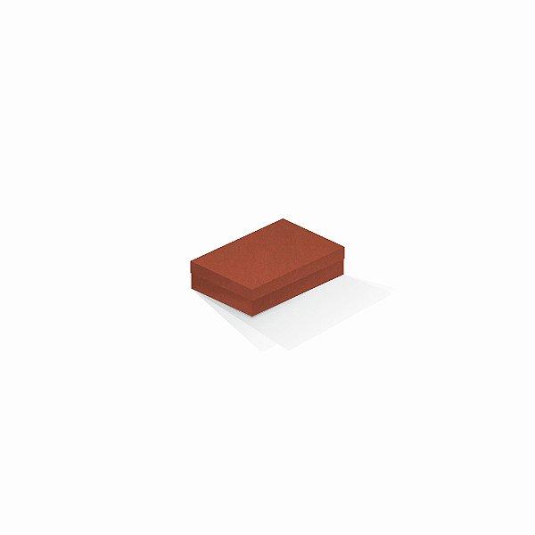 Caixa de presente | Retângulo F Card Scuro Laranja 8,0x12,0x3,5