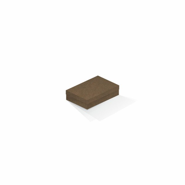 Caixa de presente | Retângulo F Card Scuro Marrom 8,0x12,0x3,5