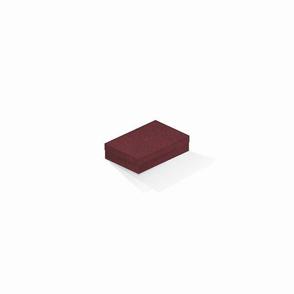 Caixa de presente | Retângulo F Card Scuro Vermelho 8,0x12,0x3,5