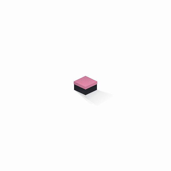 Caixa de presente | Quadrada F Card Rosa-Preto 5,0x5,0x3,5
