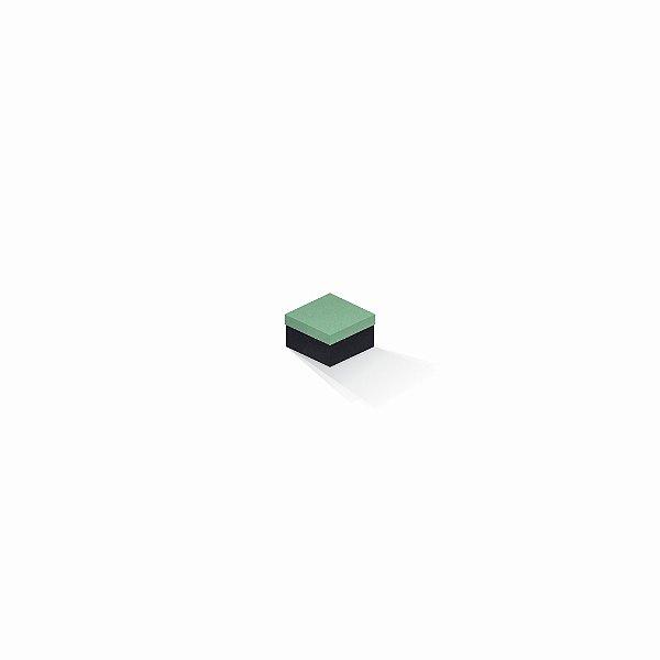 Caixa de presente | Quadrada F Card Verde-Preto 5,0x5,0x3,5