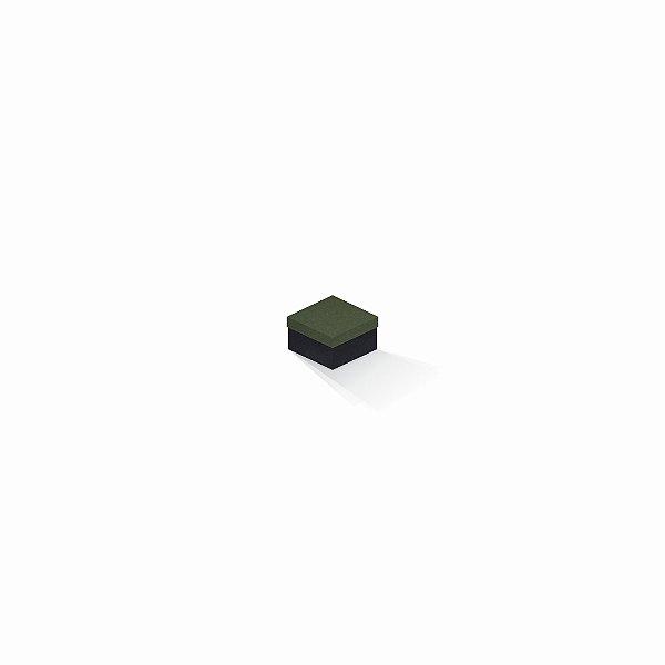 Caixa de presente | Quadrada F Card Scuro Verde-Preto 5,0x5,0x3,5