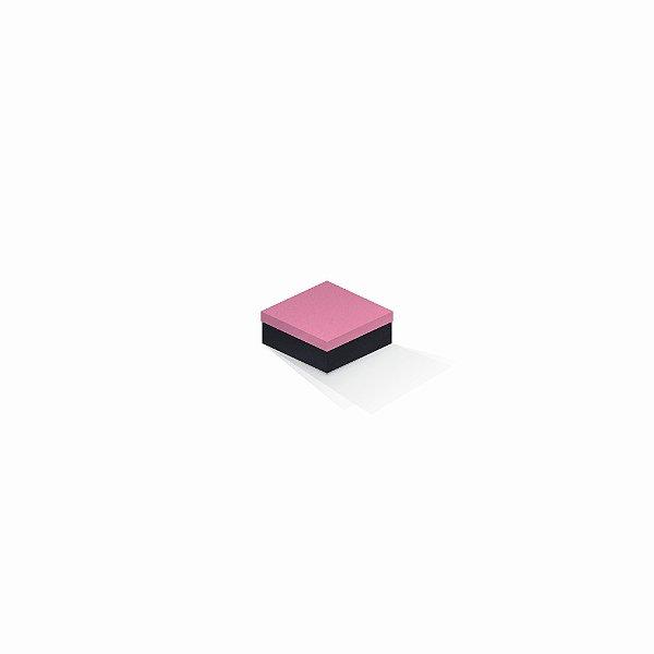 Caixa de presente | Quadrada F Card Rosa-Preto 7,0x7,0x3,5