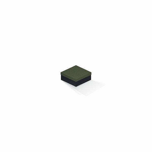Caixa de presente | Quadrada F Card Scuro Verde-Preto 7,0x7,0x3,5
