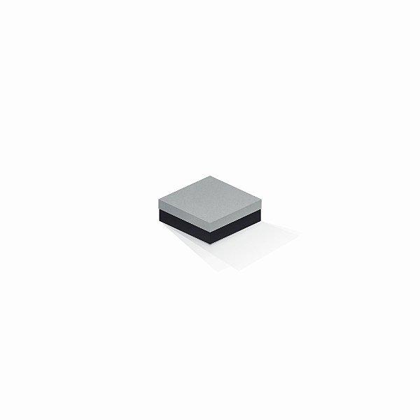Caixa de presente | Quadrada F Card Cinza-Preto 8,5x8,5x3,5