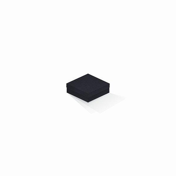 Caixa de presente | Quadrada F Card Scuro Preto-Preto 8,5x8,5x3,5
