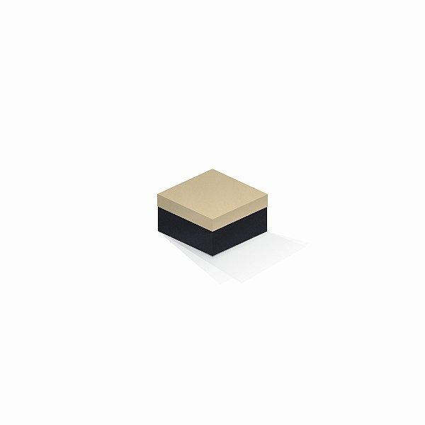 Caixa de presente | Quadrada F Card Areia-Preto 9,0x9,0x6,0