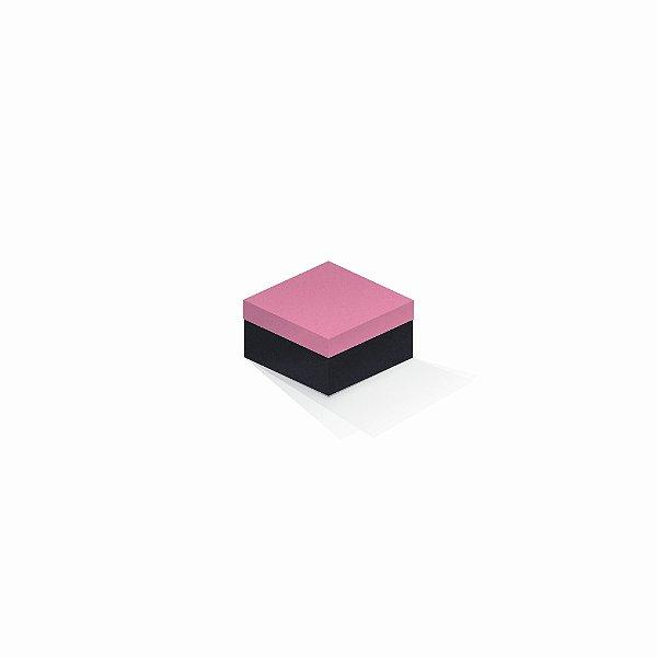 Caixa de presente | Quadrada F Card Rosa-Preto 9,0x9,0x6,0