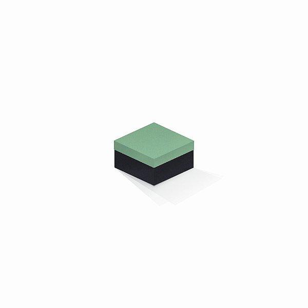 Caixa de presente | Quadrada F Card Verde-Preto 9,0x9,0x6,0
