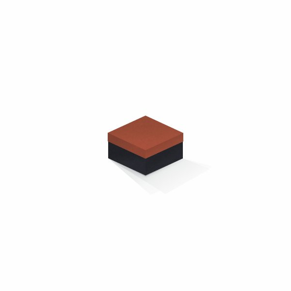 Caixa de presente | Quadrada F Card Scuro Laranja-Preto 9,0x9,0x6,0