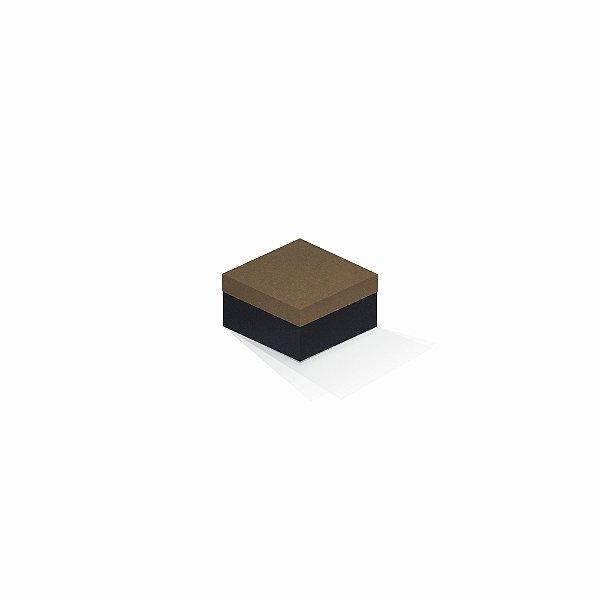 Caixa de presente | Quadrada F Card Scuro Marrom-Preto 9,0x9,0x6,0