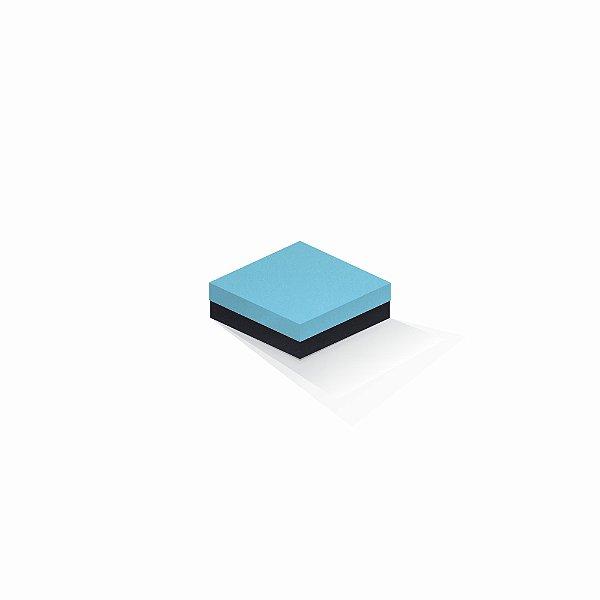 Caixa de presente | Quadrada F Card Azul-Preto 10,5x10,5x4,0