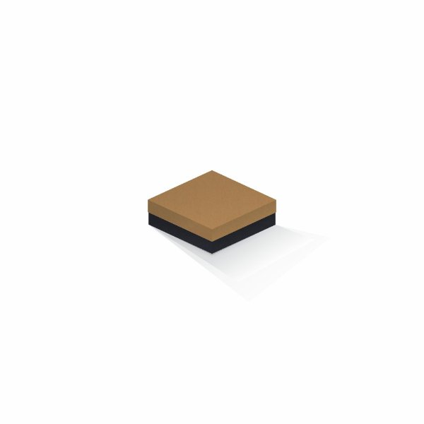 Caixa de presente | Quadrada F Card Ocre-Preto 10,5x10,5x4,0