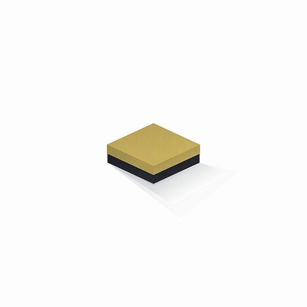 Caixa de presente | Quadrada F Card Ouro-Preto 10,5x10,5x4,0