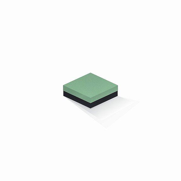Caixa de presente | Quadrada F Card Verde-Preto 10,5x10,5x4,0