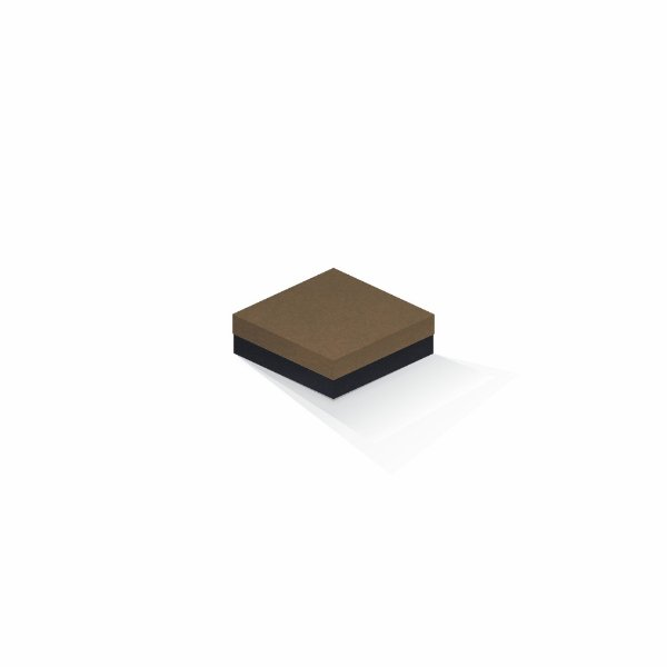Caixa de presente   Quadrada F Card Scuro Marrom-Preto 10,5x10,5x4,0