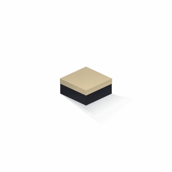 Caixa de presente | Quadrada F Card Areia-Preto 10,5x10,5x6,0