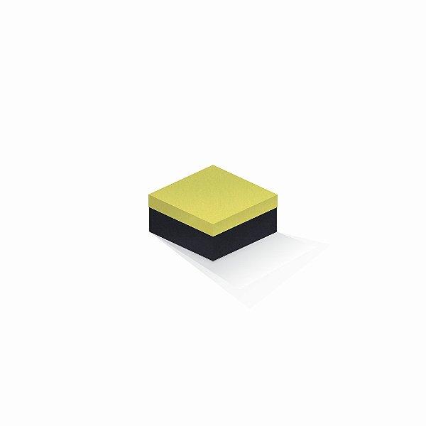 Caixa de presente | Quadrada F Card Canário-Preto 10,5x10,5x6,0