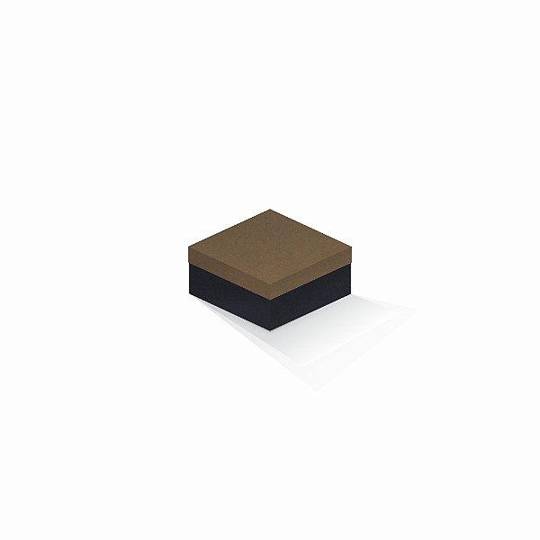 Caixa de presente | Quadrada F Card Scuro Marrom-Preto 10,5x10,5x6,0