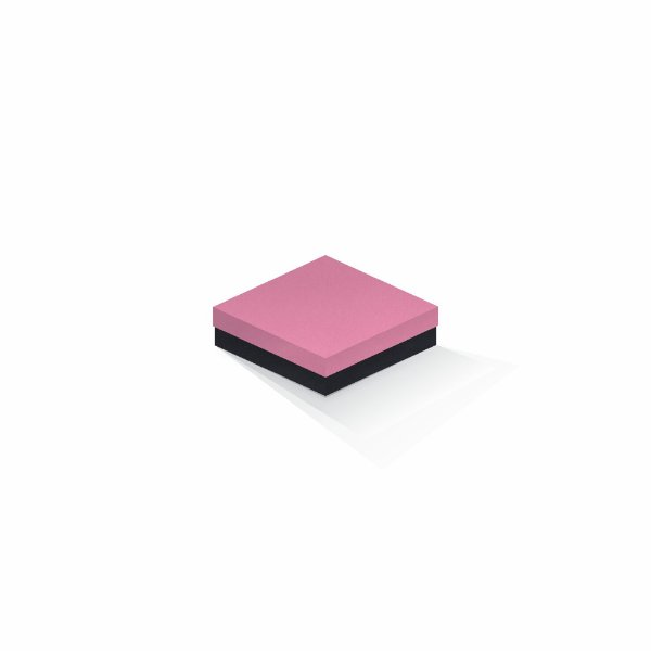 Caixa de presente | Quadrada F Card Rosa-Preto 12,0x12,0x4,0