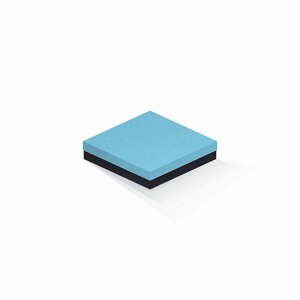 Caixa de presente | Quadrada F Card Azul-Preto 15,5x15,5x4,0