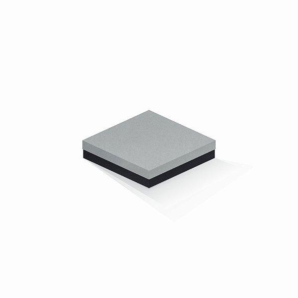 Caixa de presente | Quadrada F Card Cinza-Preto 15,5x15,5x4,0