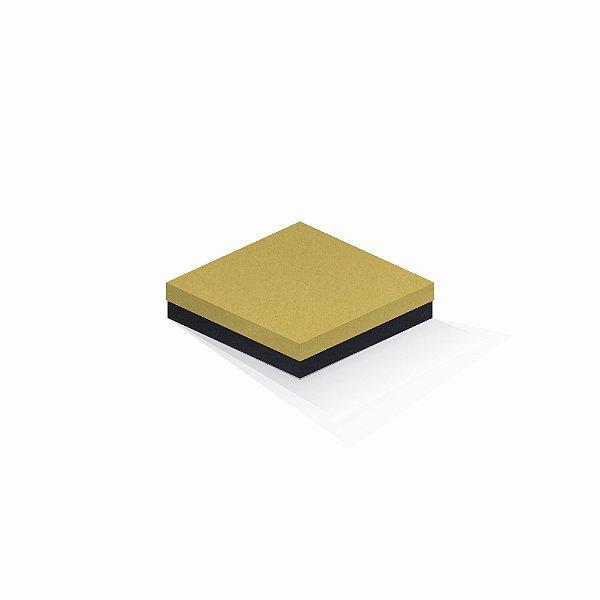 Caixa de presente | Quadrada F Card Ouro-Preto 15,5x15,5x4,0