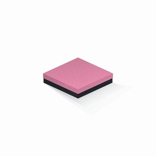 Caixa de presente | Quadrada F Card Rosa-Preto 15,5x15,5x4,0