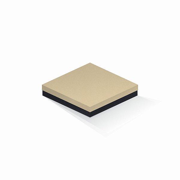 Caixa de presente | Quadrada F Card Areia-Preto 18,5x18,5x4,0