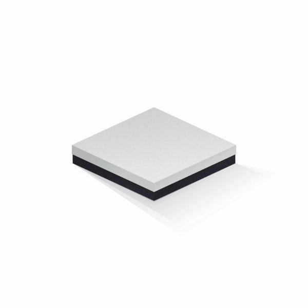 Caixa de presente | Quadrada F Card Branco-Preto 18,5x18,5x4,0