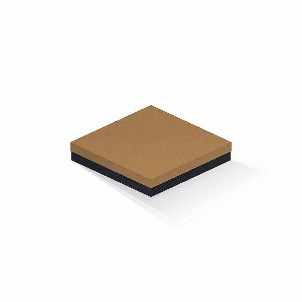 Caixa de presente | Quadrada F Card Ocre-Preto 18,5x18,5x4,0