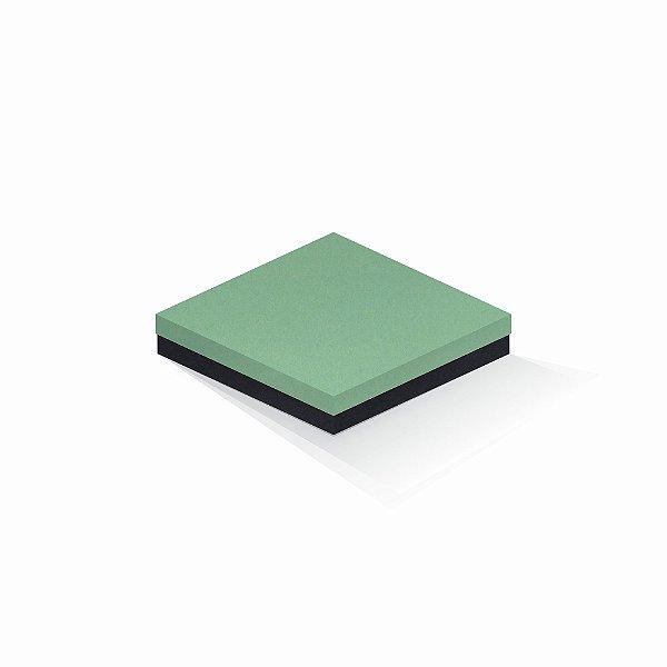 Caixa de presente | Quadrada F Card Verde-Preto 18,5x18,5x4,0